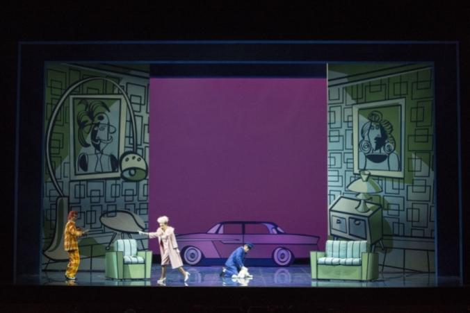 Una scena dal Don Pasquale (Teatro Donizetti, Bergamo).